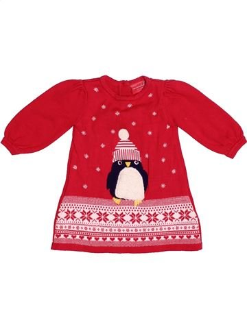 Robe fille MINI CLUB rouge 3 mois hiver #1539731_1