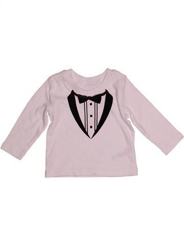 Camiseta de manga larga niño GEORGE rosa 6 meses invierno #1540805_1