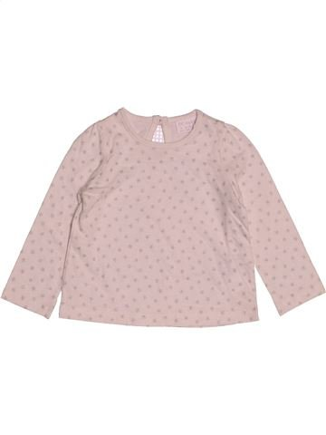 T-shirt manches longues fille F&F rose 9 mois hiver #1541139_1