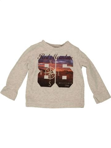 T-shirt manches longues garçon F&F beige 9 mois hiver #1541168_1