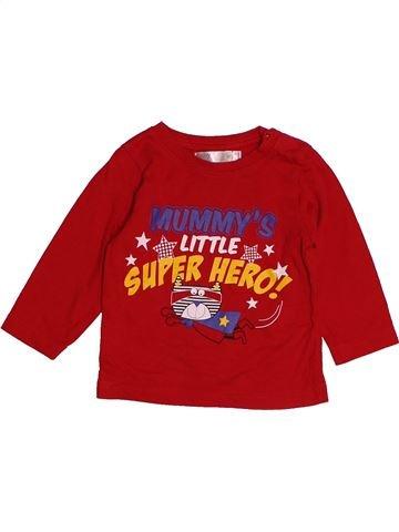Camiseta de manga larga niño M&CO rojo 12 meses invierno #1541276_1