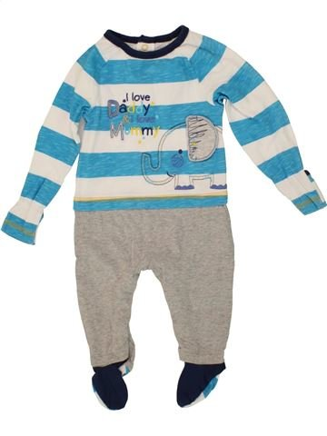 Pyjama 1 pièce garçon M&CO blanc 6 mois été #1541311_1
