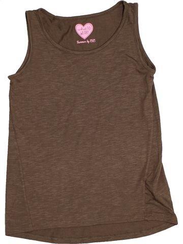 T-shirt sans manches fille F&F marron 11 ans été #1541366_1