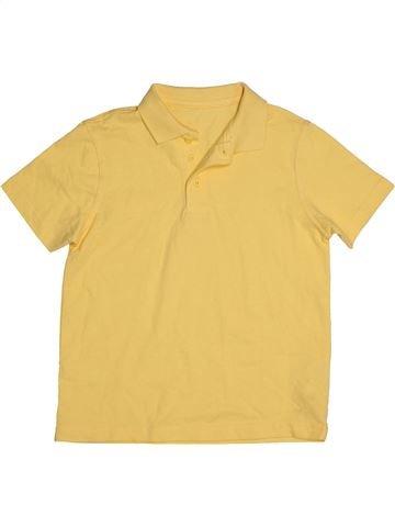 Polo manches courtes garçon GEORGE jaune 7 ans été #1541863_1