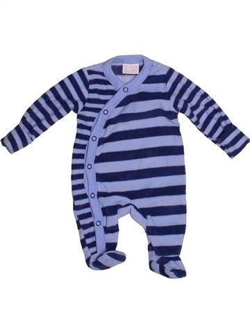 Pyjama 1 pièce garçon F&F bleu naissance hiver #1542019_1
