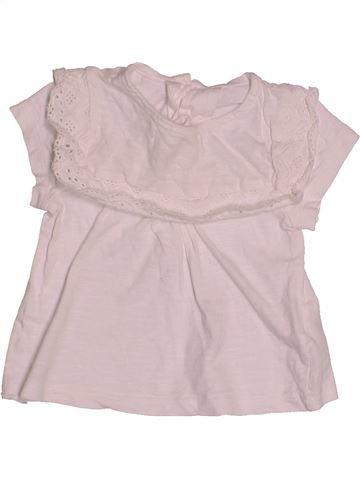 Camiseta de manga corta niña MATALAN rosa 6 meses verano #1542026_1