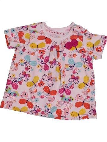 Camiseta de manga corta niña NUTMEG rosa 6 meses verano #1542141_1