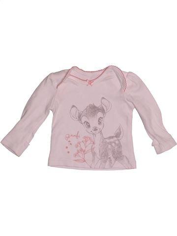 Camiseta de manga larga niña GEORGE rosa 0 meses invierno #1542205_1