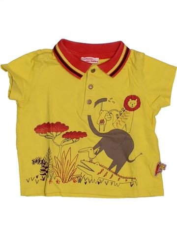 Polo manches courtes garçon DPAM jaune 9 mois été #1542545_1