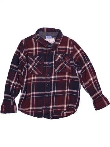Camisa de manga larga niño F&F beige 5 años invierno #1542638_1