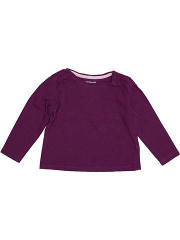 T-shirt manches longues fille VERTBAUDET violet 2 ans hiver #1542792_1
