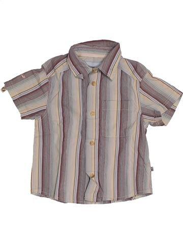 Chemise manches courtes garçon OKAIDI gris 12 mois été #1542829_1