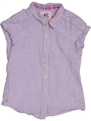 Blouse manches courtes fille H&M violet 10 ans été #1542860_1