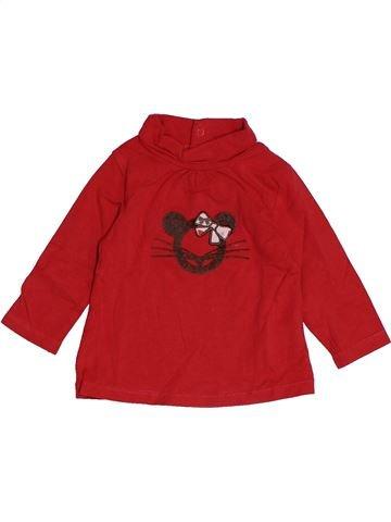 Camiseta de cuello alto niña OKAIDI rojo 6 meses invierno #1542965_1