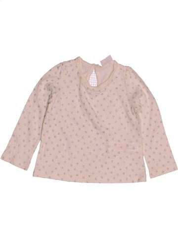 T-shirt manches longues fille F&F rose 9 mois hiver #1543025_1