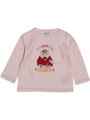 T-shirt manches longues garçon LA COMPAGNIE DES PETITS rose 18 mois hiver #1543139_1
