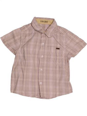 Chemise manches courtes garçon OKAIDI beige 2 ans été #1543330_1