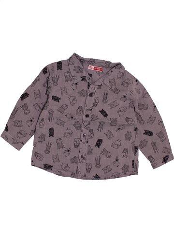 Chemise manches longues garçon DPAM violet 12 mois hiver #1543413_1