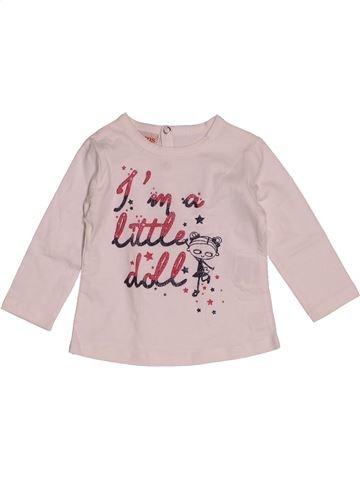 T-shirt manches longues fille BRUMS rose 6 mois hiver #1543447_1