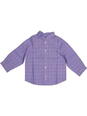 Chemise manches longues garçon JACADI violet 2 ans hiver #1543787_1