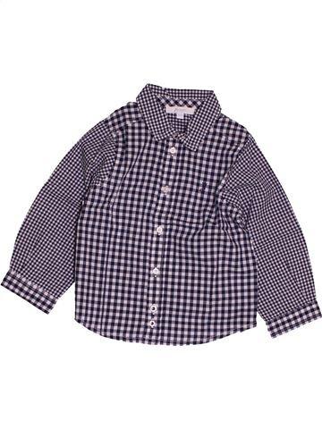 Chemise manches longues garçon JACADI violet 2 ans hiver #1543804_1