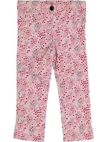 Pantalon fille DPAM rose 4 ans été #1543934_1