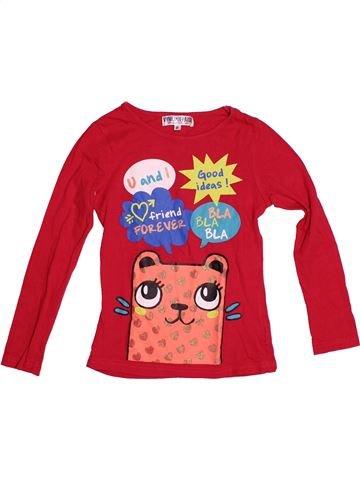 T-shirt manches longues fille VYNIL FRAISE rouge 8 ans hiver #1544504_1