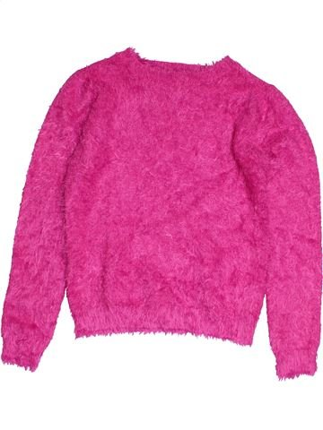 Pull fille YOUNG DIMENSION rose 11 ans hiver #1545393_1