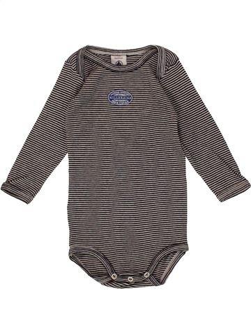 T-shirt manches longues garçon PETIT BATEAU gris 6 mois hiver #1546700_1
