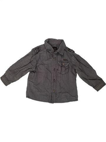 Chemise manches longues garçon JBC marron 12 mois hiver #1546747_1