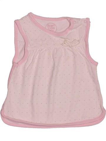 T-shirt sans manches fille TAPE À L'OEIL rose 6 mois été #1546938_1