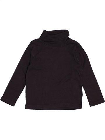 T-shirt col roulé garçon PETIT BATEAU noir 3 ans hiver #1547982_1