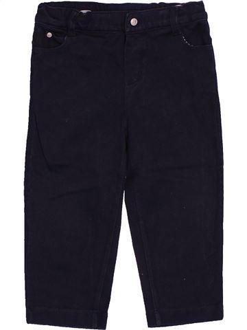 Pantalon garçon PETIT BATEAU noir 18 mois hiver #1548427_1