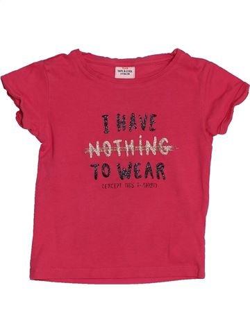 T-shirt manches courtes fille TAPE À L'OEIL rose 2 ans été #1548462_1