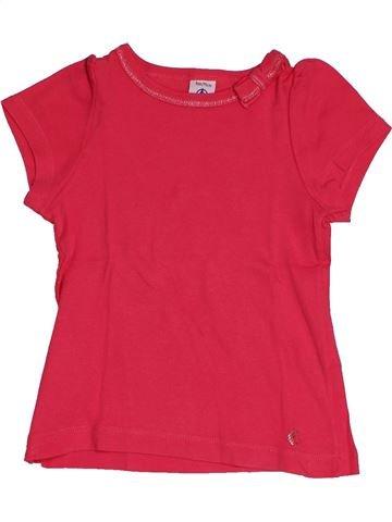 T-shirt manches courtes fille PETIT BATEAU rose 3 ans été #1549027_1