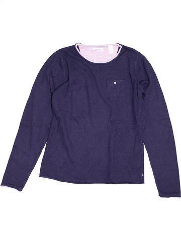 Pull fille OKAIDI bleu 2 ans hiver #1549037_1
