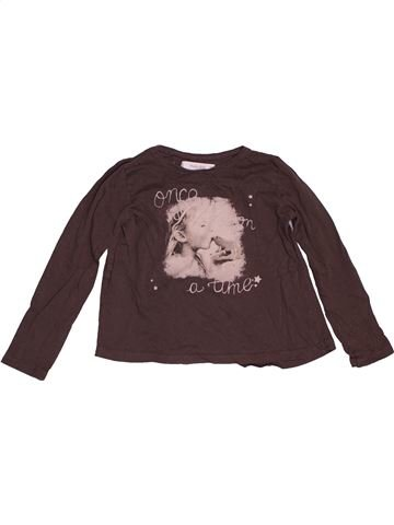 T-shirt manches longues fille MANGO marron 6 ans hiver #1549544_1