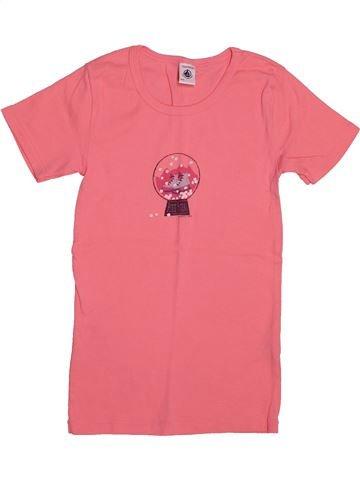 T-shirt manches courtes fille PETIT BATEAU rose 12 ans été #1549855_1