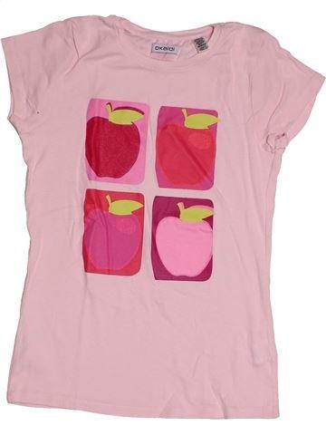 T-shirt manches courtes fille OKAIDI rose 12 ans été #1550187_1