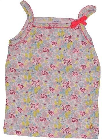 T-shirt sans manches fille PETIT BATEAU beige 8 ans été #1550388_1