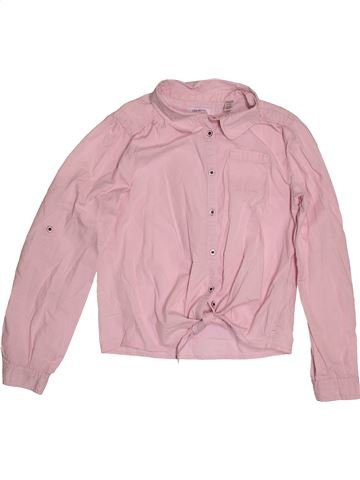 Blouse manches longues fille OKAIDI rose 10 ans hiver #1551012_1