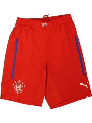 Pantalon corto deportivos niño PUMA rojo 12 años verano #1551448_1