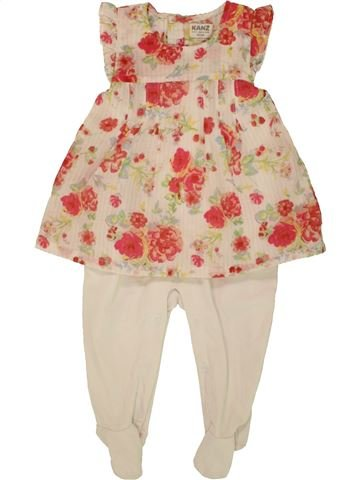 Pyjama 1 pièce fille KANZ beige 6 mois été #1551966_1