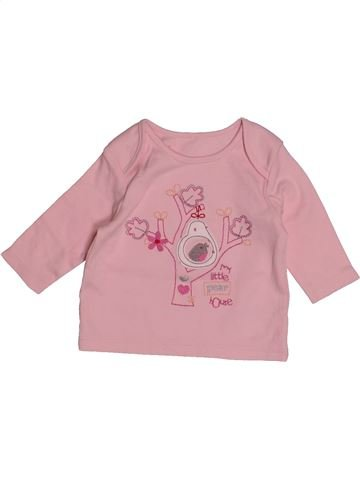 T-shirt manches longues fille MARKS & SPENCER rose 1 mois hiver #1552399_1