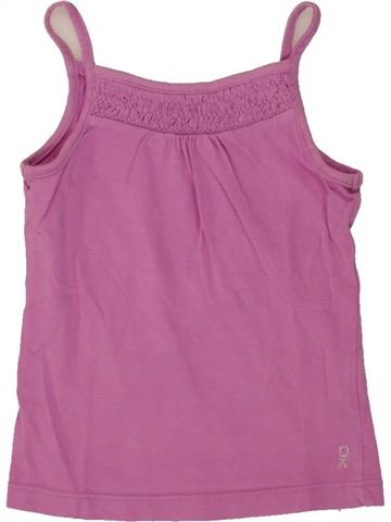 T-shirt sans manches fille OKAIDI rose 2 ans été #1553552_1