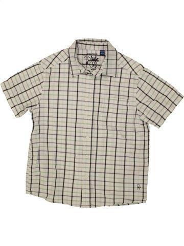 Chemise manches courtes garçon OKAIDI beige 8 ans été #1553822_1