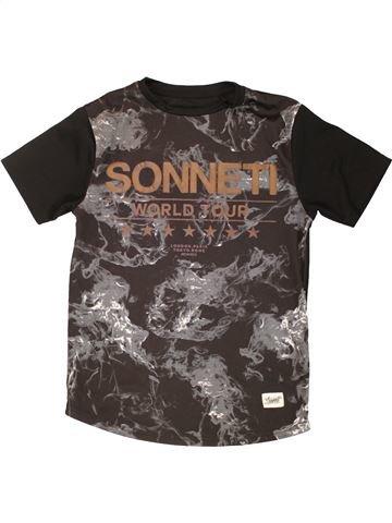 T-shirt manches courtes garçon SONNETI gris 13 ans été #1555382_1