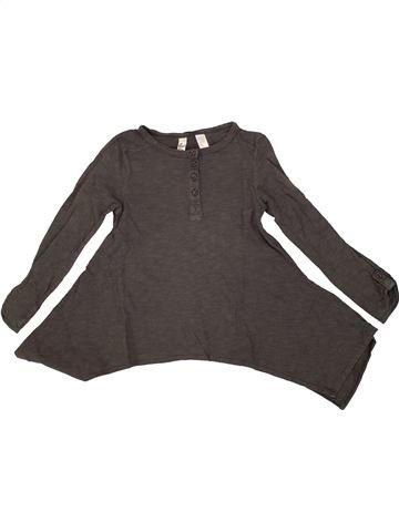 T-shirt manches longues fille OKAIDI marron 5 ans hiver #1555980_1