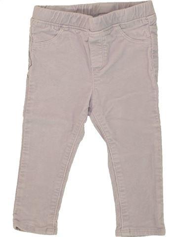 Pantalon fille OKAIDI gris 18 mois hiver #1556314_1