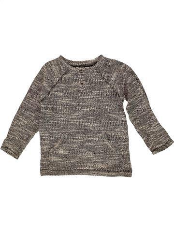 Sweat garçon M&CO gris 4 ans hiver #1556739_1